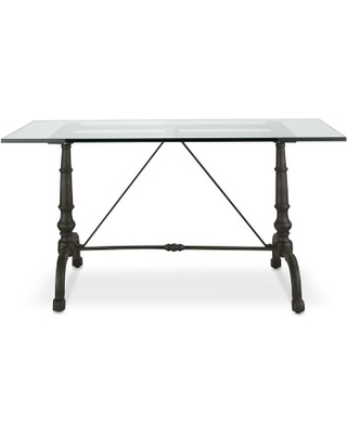 1f9380e65ac16 Great Deal on La Coupole Iron Bistro Table with Glass Top ...