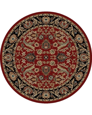 Ankara Sultanabad Red 5 Ft Round Area Rug