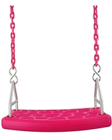 Swing Set Stuff Inc. Flat Seat with 5.5 Ft. Coated Chain (Pink) and SSS Logo Sticker