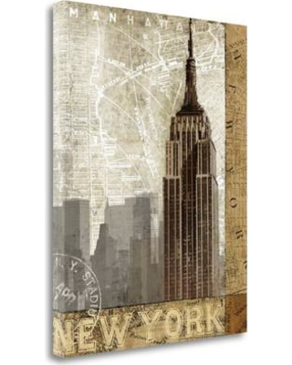 """Tangletown Fine Art 'Autumn in New York' Graphic Art Print on Wrapped Canvas CA305922-1823c Size: 39"""" H x 26"""" W"""
