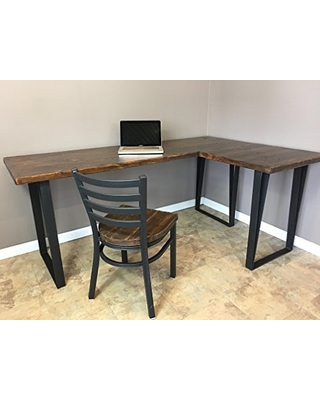 huge discount e3a47 e5500 Barn XO Desk, Wood L Shaped Office Desk, Reclaimed Wood Industrial Pipe  Desk, Free Shipping from Amazon | BHG.com Shop
