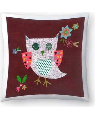 """East Urban Home Liz and Kate Pope Owl Throw Pillow EBIC1678 Size: 18"""" x 18"""""""