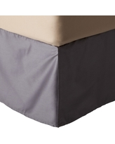 Gray Wrinkle-Resistant Cotton Bedskirt (Twin) - Threshold