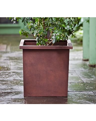 Industrial Planter, Small, Rust