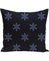 "The Holiday Aisle Flurries Decorative Holiday Print Throw Pillow HLDY5953 Size: 26"" H x 26"" W, Color: White"