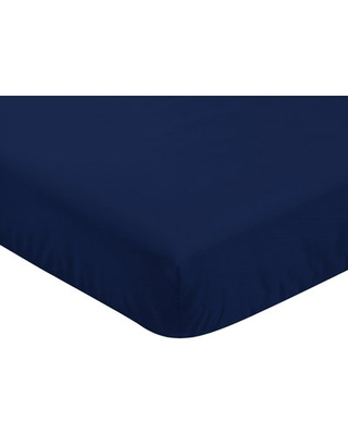 Baseball Patch Fitted Crib Sheet Sweet Jojo Designs Color: Navy