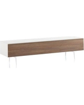 """Orren Ellis Louis TV Stand for TVs up to 75"""" CG288183 Color: Walnut/White"""