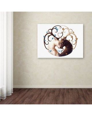 """Ebern Designs 'Circle of Life' Graphic Art Print on Wrapped Canvas EBND8154 Size: 24"""" H x 32"""" W"""