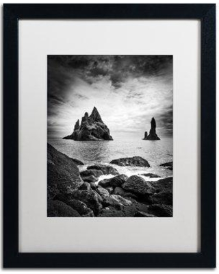 "Trademark Art 'Reynisdrangar' Framed Photographic Print on Canvas PSL0802-B1114MF / PSL0802-B1620MF Size: 20"" H x 16"" W x 0.5"" D Frame Color: Birch"