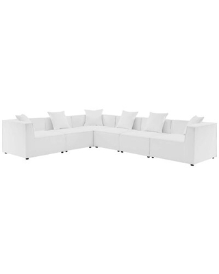 """Bonney 138"""" Wide Outdoor Reversible Patio Sectional with Cushions"""