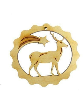 Personalized Reindeer Christmas Tree Ornament Decoration