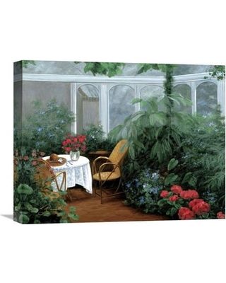 """Global Gallery 'Garden Room' by Diane Romanello Painting Print on Wrapped Canvas GCS-127614 Size: 20"""" H x 24"""" W x 1.5"""" D"""