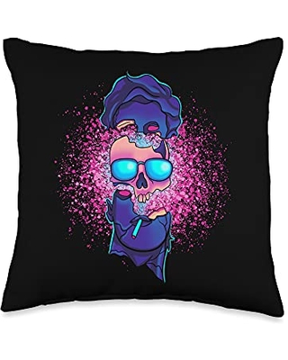 Vaporwave Aesthetic Gifts Vaporwave Sound Explosion Japanese Aesthetic Throw Pillow, 16x16, Multicolor