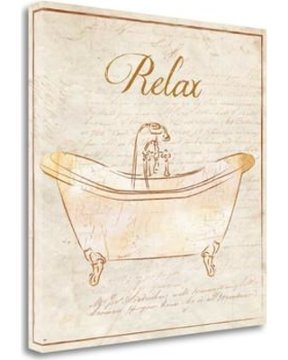 "Tangletown Fine Art Romantic Bath Relax' Graphic Art Print on Canvas BAPB26093-2020c Size: 20"" H x 20"" W"