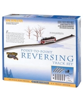 Bachmann Trains E-Z TRACK ELECTRONIC AUTO-REVERSING SYSTEM - NICKEL SILVER E-Z TRACK With Grey Roadbed - HO Scale