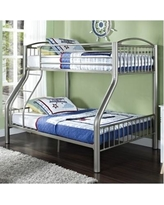 Twin over Full Pewter Bed - Powell 941-192