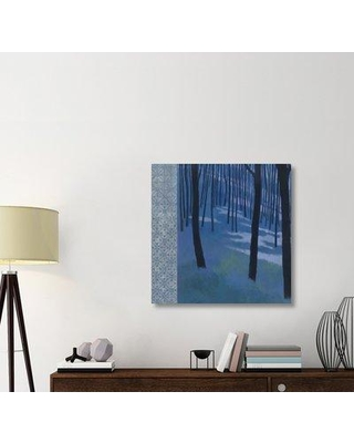 """East Urban Home 'Blue Path to the Edge of the Woods' Graphic Art Print on Canvas ERBR1493 Size: 36"""" H x 36"""" W x 1.5"""" D"""
