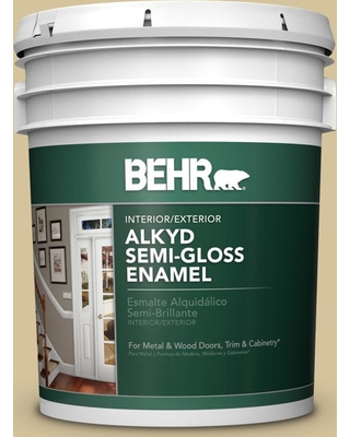 BEHR 5 gal. Home Decorators Collection #HDC-NT-02 White Oak Urethane Alkyd Semi-Gloss Enamel Interior/Exterior Paint