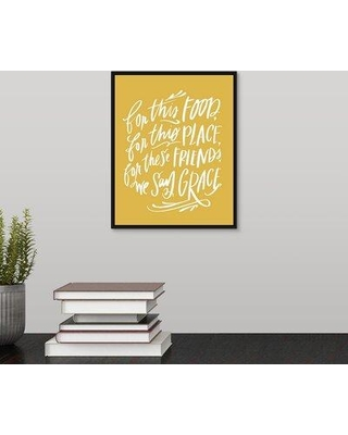 "Winston Porter 'We Say Grace' Textual Art Print on Canvas W000165297 Format: Black Framed Size: 11.7"" H x 9.7"" W x 1.75"" D"