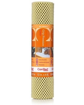 Con-Tact Grip Premium 12 in. x 4 ft. Lemongrass Non-Adhesive Thick Grip Drawer and Shelf Liner (6-Rolls)