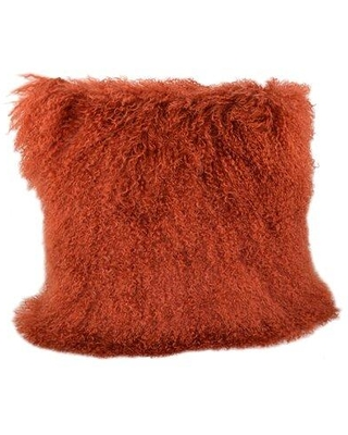 Foundry Select Solon Wool Throw Pillow X112686756 Color: Rust