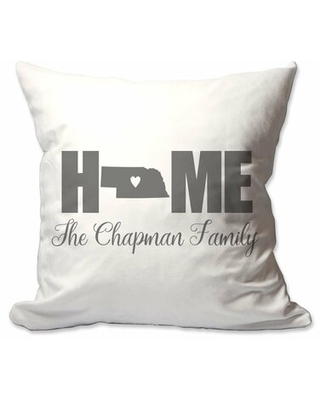 Personalized Nebraska Home with Heart Throw Pillow East Urban Home Customize: Yes
