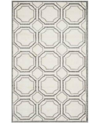 Safavieh Amherst Mosaic 6 x 9 Ivory/Light Gray Indoor or Outdoor Geometric Area Rug | AMT411E-6
