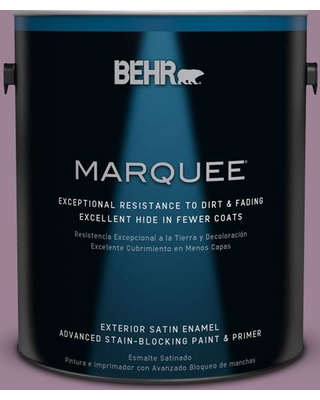 BEHR MARQUEE 1 gal. #S110-5 Garden Plum Satin Enamel Exterior Paint and Primer in One