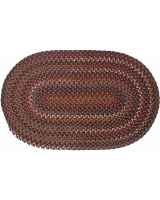 Colonial Mills Cape Beth Braided Rug, Red, 2X5 Ft