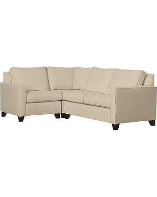 Cameron Square Arm Upholstered Right Arm 3-Piece Corner Sectional, Polyester Wrapped Cushions, Performance Everydayvelvet(TM) Buckwheat