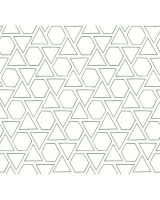 "Accentuations by Manhattan Comfort Sun Shapes and Geometric Contemporary 27' L x 27"" W Wallpaper Roll SBMB301 Color: Greenery"