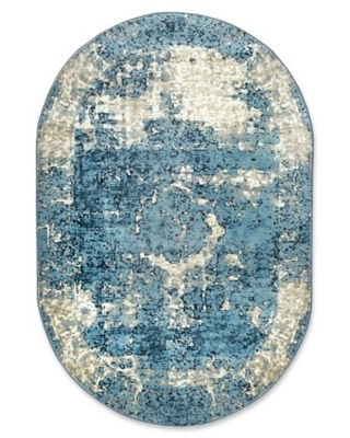 nuLOOM Traces Vintage Lindsy 5-foot 11-Inch x 9-Foot Area Rug in Blue