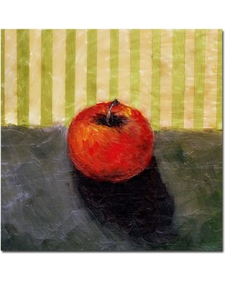Trademark Art 'Red Apple Still Life' by Michelle Calkins Painting Print on Canvas MC060-C Size: 35'' H x 35'' W x 2'' D