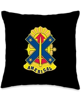 US Army 23rd Infantry Division Throw Pillow, 16x16, Multicolor