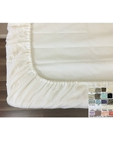 Crib Fitted Sheet, Natural Linen, Machine Washable! Over 40 Colors to choose from, FREE SHIPPING