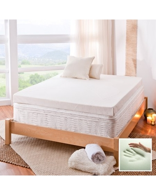 """Spa Sensations by Zinus 4"""" Memory Foam Mattress Topper With Theratouch, Full"""