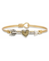 Luca + Danni Follow Your Heart Bangle Bracelet, Women's, Size: Petite, Red/Coppr