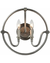 """Stanton 14""""H Weathered Zinc and Brushed Nickel Wall Sconce"""