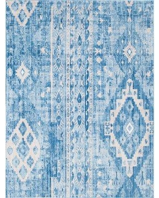 Bungalow Rose Bearden Blue Area Rug BF158588 Rug Size: Rectangle 9' x 12'