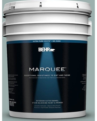 Behr Marquee 5 Gal 490f 4 Gray Morning Satin Enamel Exterior Paint And