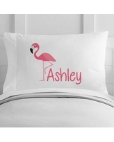4 Wooden Shoes Personalized Flamingo Toddler Pillow Case WF-12-122