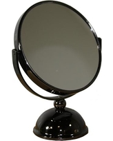 ORE International 3.5 in. x 8.5 in. Black Chrome 5x Magnify Mirror