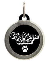 Personalized Handsome Devil Funny Pet ID Name Tag with Silencer for Cats or Dogs by Oh My Pawd
