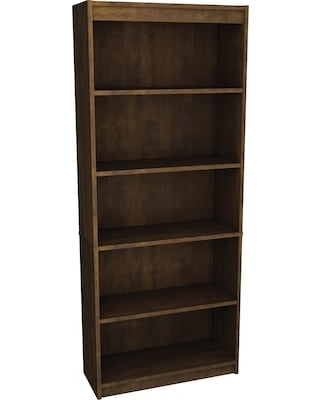 Bestar Executive Office Collection in Chocolate Finish, Bookcase | Quill