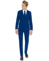 Boys 10-16 OppoSuits Navy Royale Solid Suit, Boy's, Blue