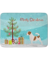 The Holiday Aisle Jack Russell Terrier Christmas Tree Memory Foam Bath Rug THLA5472