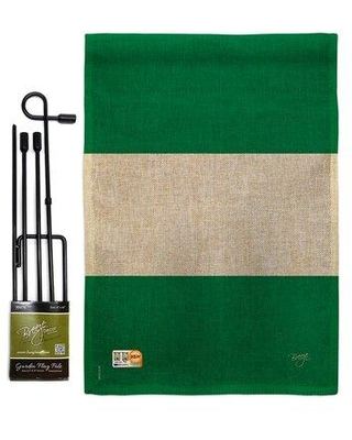 Find Big Savings On Breeze Decor Nigeria The World Nationality Impressions 2 Sided Polyester 19 X 13 In Flag Set In Beige Green Wayfair