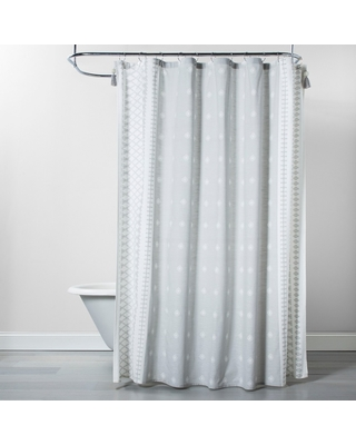 Printed Shower Curtain Gray - Opalhouse , Silver