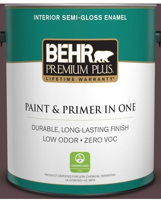 BEHR Premium Plus 1 gal. #MQ1-44 Wild Boysenberry Semi-Gloss Enamel Low Odor Interior Paint and Primer in One