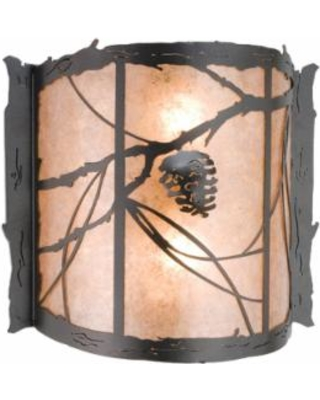 Meyda Lighting Whispering Pines 15 Inch Wall Sconce - 13875